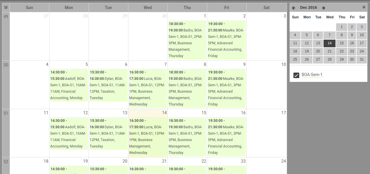 Timetable Management Software Openeducat
